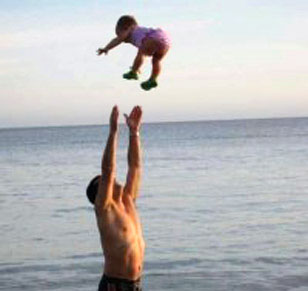 ObitKit, Susan Soper: Uncle Nick tossing the baby at the ocean